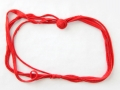 Collar trapillo rojo con adorno de rosa | gingerytulula.com