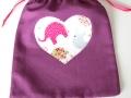 Bolsa de merienda con aplique con forma de corazón | gingerytulula.com