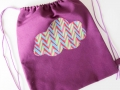 Bolsa de merienda con aplique con forma de nube | gingerytulula.com
