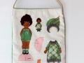 Bolsa con dibujo de muñeca recortable (frente) | gingerytulula.com