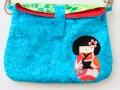 Bolso con aplique kokeshi | gingerytulula.com