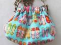 Bolso de tela con asa metálica | gingerytulula.com