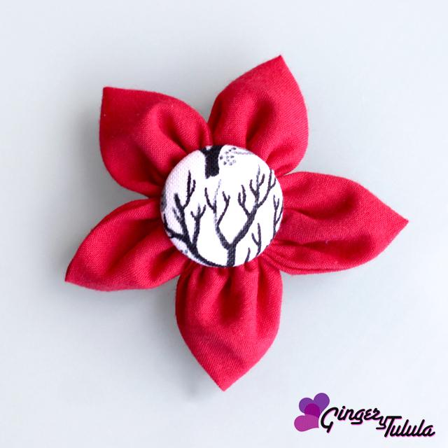 Broche con forma de flor fuxiko | gingerytulula.com