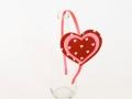 Diadema hecha de fieltro con forma de corazones en colores marrón y rosa. Talla única | gingerytulula.com