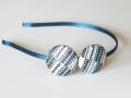 Diadema con estampado de lunares azul y blanco. Talla única. | gingerytulula.com