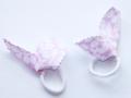 Coletero rosa y blanco estampado de hojas | gingerytulula.com