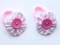 Coletero rosa con adorno de botón en el centro | gingerytulula.com