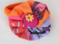 Coletero en forma de flor hecho en tela multicolor | gingerytulula.com