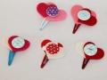 Diferentes modelos de horquillas rana adornados con fieltro y botones. | gingerytulula.com