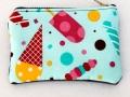 Monedero con cremallera tela de helados | gingerytulula.com