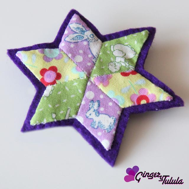 Broche patchwork realizado a mano | gingerytulula.com