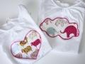 Aplique en camiseta con forma de corazón o nube. Ropa chula para chica chula | gingerytulula.com