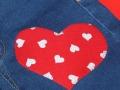 Aplique corazón sobre ropa | gingerytulula.com