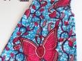 Vestido niña sin mangas realizado en tela africana. Ropa chula para chica chula | gingerytulula.com