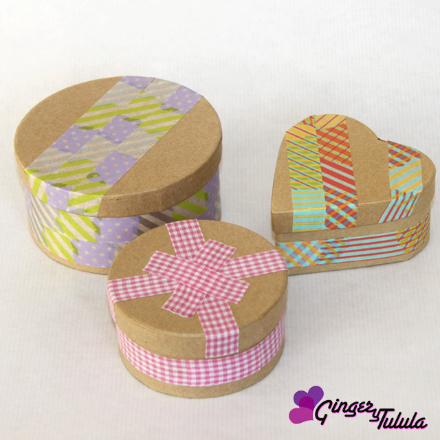Cajas para regalo craft washi tape en casa chula | gingerytulula.com