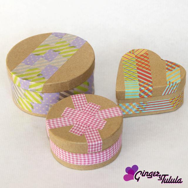 Cajas para regalo craft washi tape en casa chula | gingerytulula.com