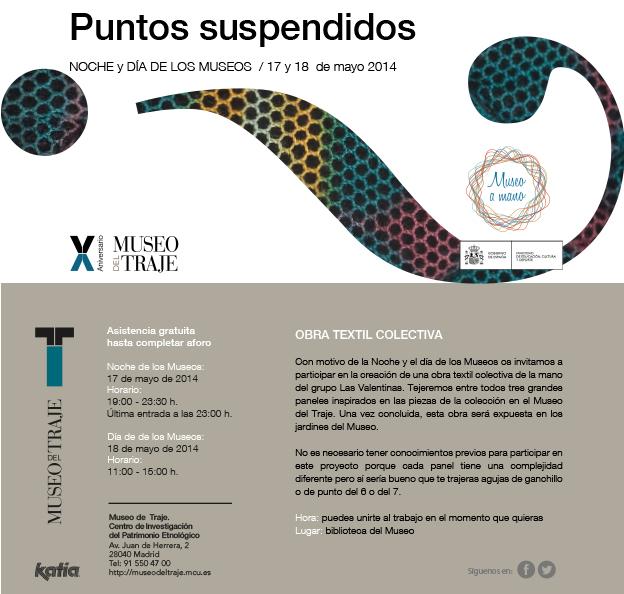 Puntos suspendidos 2014 Museo del Traje de Madrid con Lanas Katia