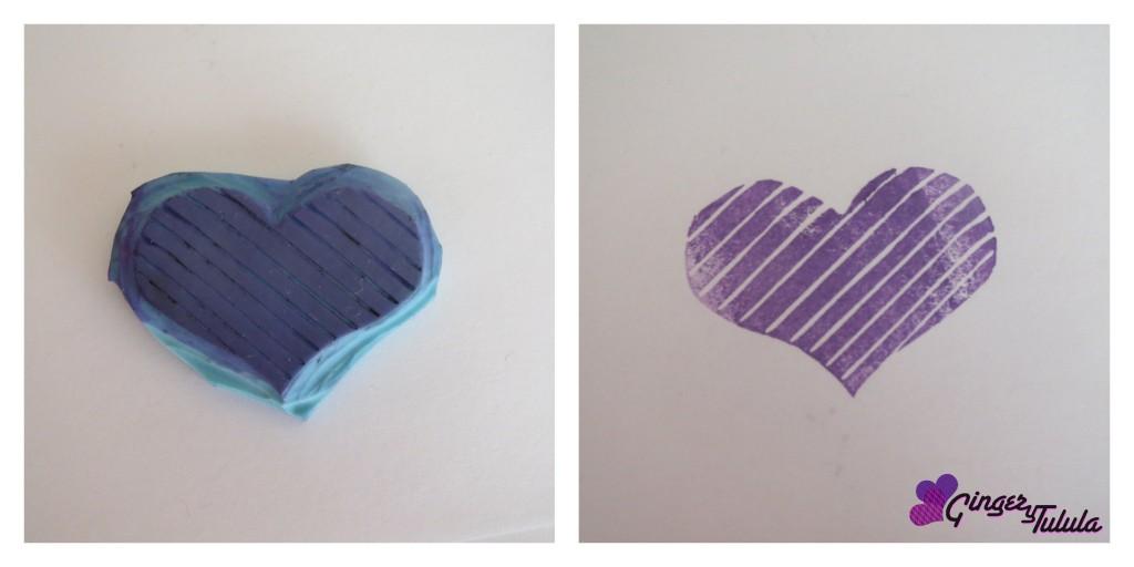 Carvado de sellos con forma de corazón con el Club Handmade Madrid en Matadero
