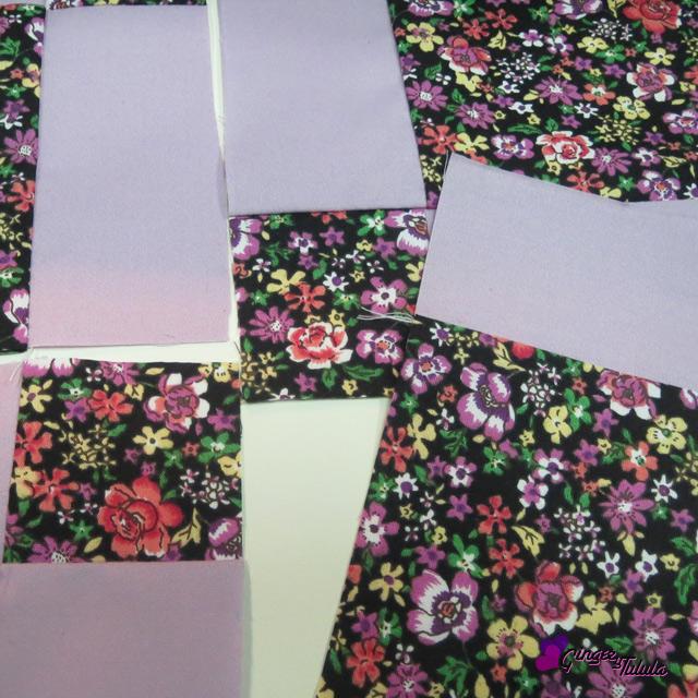 piezas del nine patch en proceso de coser