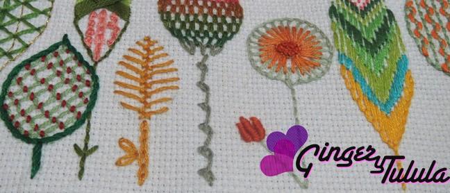 muestra de Yolanda Andrés del taller de bordado a mano